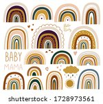 decorative vector abstract art... | Shutterstock .eps vector #1728973561