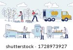 concept of juices production.... | Shutterstock .eps vector #1728973927