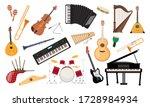 Musical Instruments Set. Folk...