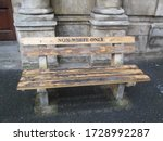 Small photo of A bench in Cape Town during the apartheid period placed outside the High Court Civil Annex. Even benches were reserved to whites only of non white only