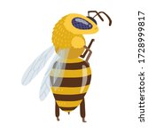 a bee or honey bumblebee insect ... | Shutterstock .eps vector #1728999817