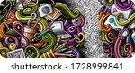 designer hand drawn doodle... | Shutterstock .eps vector #1728999841