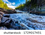 Mountain Forest River Rapids...