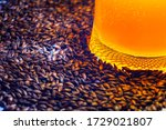 light cold beer in a glass...   Shutterstock . vector #1729021807