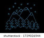 Outline Of Forest And Mountain...