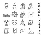 funeral agency line icon set.... | Shutterstock .eps vector #1729031287