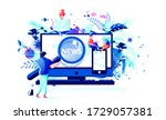 stock vector isolated abstract...   Shutterstock .eps vector #1729057381