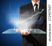 businessman analyze graph with... | Shutterstock . vector #172907837