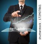 businessman analyze graph with... | Shutterstock . vector #172907861