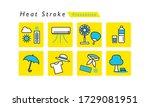 heat stroke prevention icon set | Shutterstock .eps vector #1729081951