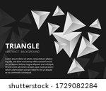 black and white triangular... | Shutterstock .eps vector #1729082284