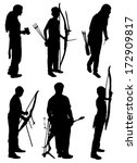 collection of silhouettes of... | Shutterstock .eps vector #172909817