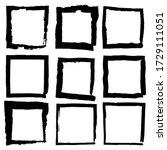 set of vector square grunge... | Shutterstock .eps vector #1729111051
