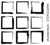 set of vector square grunge...   Shutterstock .eps vector #1729111054