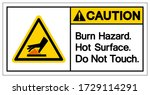 caution burn hazard hot surface ...   Shutterstock .eps vector #1729114291