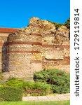 Nessebar, Bulgaria old town ruins of Nesebur, ancient city on the Black Sea coast