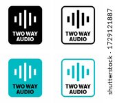 """two way audio"" communication... 
