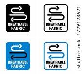 """breathable fabric"" moisture... | Shutterstock .eps vector #1729123621"