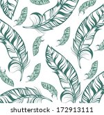 seamless pattern with feathers | Shutterstock .eps vector #172913111