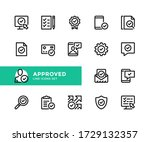 approved vector line icons.... | Shutterstock .eps vector #1729132357