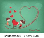happy valentines day background ... | Shutterstock .eps vector #172916681