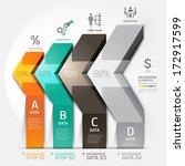 3d arrow staircase diagram... | Shutterstock .eps vector #172917599