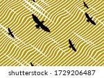 eagles flying over desert... | Shutterstock .eps vector #1729206487