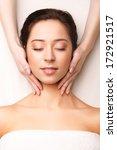 face massage. close up of a... | Shutterstock . vector #172921517