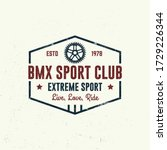 bmx extreme sport club badge  t ... | Shutterstock .eps vector #1729226344