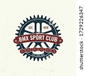 bmx extreme sport club badge  t ... | Shutterstock .eps vector #1729226347