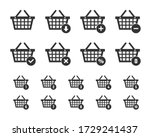 Shopping Basket Icon Set ...