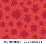 corona virus red symbol vector... | Shutterstock .eps vector #1729252891