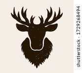 Deer Head Silhouette Vector...