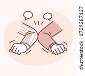 how to prevent coronavirus.... | Shutterstock .eps vector #1729287127