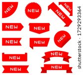 set of ribbons  labels  banners.... | Shutterstock . vector #1729293364