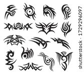 Set Of Tribal Style Tattoo...