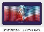 irregular array or matrix of... | Shutterstock .eps vector #1729311691