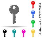 key multi color style icon....