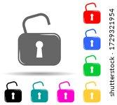 open lock multi color style...