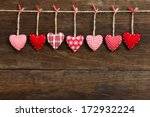 Gingham love valentine's hearts ...