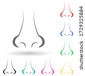 human nose multi color style...