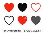 collection of heart vector... | Shutterstock .eps vector #1729326664