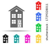 two storey house multi color...
