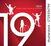 19 may commemoration of atat rk ... | Shutterstock .eps vector #1729334794