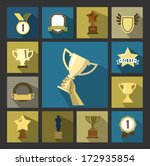 vector trophy and awards icons... | Shutterstock .eps vector #172935854
