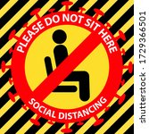 please do not sit here to... | Shutterstock .eps vector #1729366501