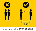 social distancing keep your... | Shutterstock .eps vector #1729373101