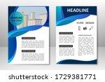 blue vector template design for ... | Shutterstock .eps vector #1729381771