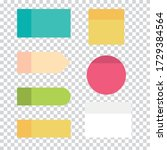 set of colorful sticky notepads.... | Shutterstock .eps vector #1729384564