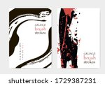 red black cover template.... | Shutterstock .eps vector #1729387231